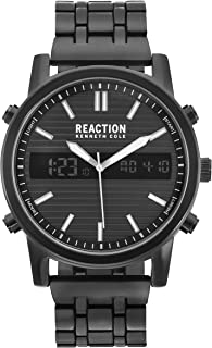 Kenneth Cole REACTION Men's ANA-Digit Quartz Metal Case Stainless-Steel/Silicone Strap Casual Watch (Model: RK50549002/04/03)