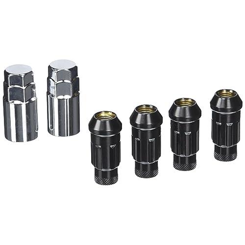 Muteki 32901UN SR48 Series Burned Blue 12mm x 1.25 Thread Size Open End Locking Lug Nut Set