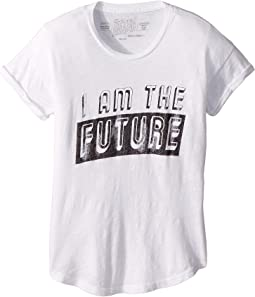 I Am The Future Rolled Short Sleeve Slub Tee (Big Kids)
