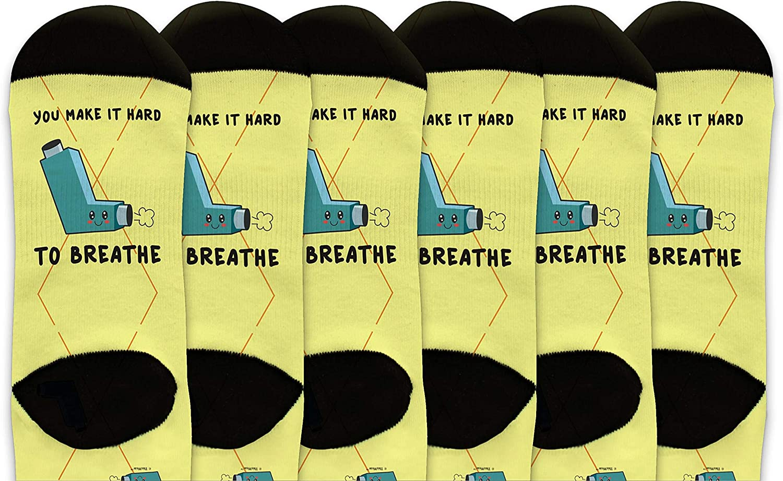 You Make It Hard To Breathe Cute Kawaii Inhaler Novelty Crew Soc