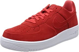 Nike Mens Air Force 1 Ultraforce Track Red/White Suede
