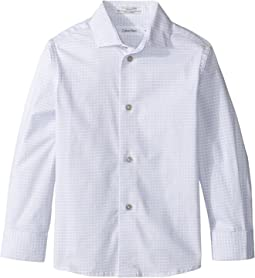 Calvin Klein Kids - Long Sleeve Square Dot Print Shirt (Little Kids)