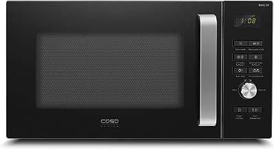 Caso BMG30 - Microondas con grill (900 W, grill 1100 W, 6 niveles, 9 programas automáticos con programa de descongelación, 95 min) Temporizador, color negro, con teclas extra grandes