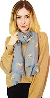 SEW ELEGANT NEW Ladies Women's Labrador Retriever Dog Print Scarf