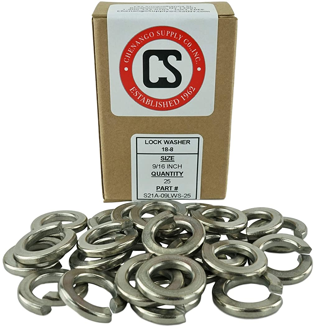 Stainless 9/16-12 Lock Washer, 304 Stainless Steel, 25 pieces (9/16-12 Lock Washer)