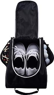 Athletico Golf Shoe Bag - Zippered Shoe Carrier Bags Ventilation & Outside Pocket Socks, Tees, etc.