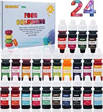 Food Coloring - 24 Color Rainbow Fondant Cake Food Coloring Set for Baking,Decorating,Icing and Cooking - neon Liquid Food Color Dye for Slime, Soap Making Kit and DIY Crafts.25 fl.oz.(6ml)Bottles