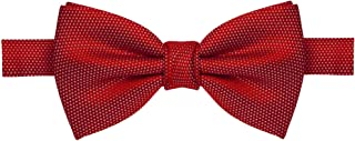 Gravata borboleta vermelha com traços brancos