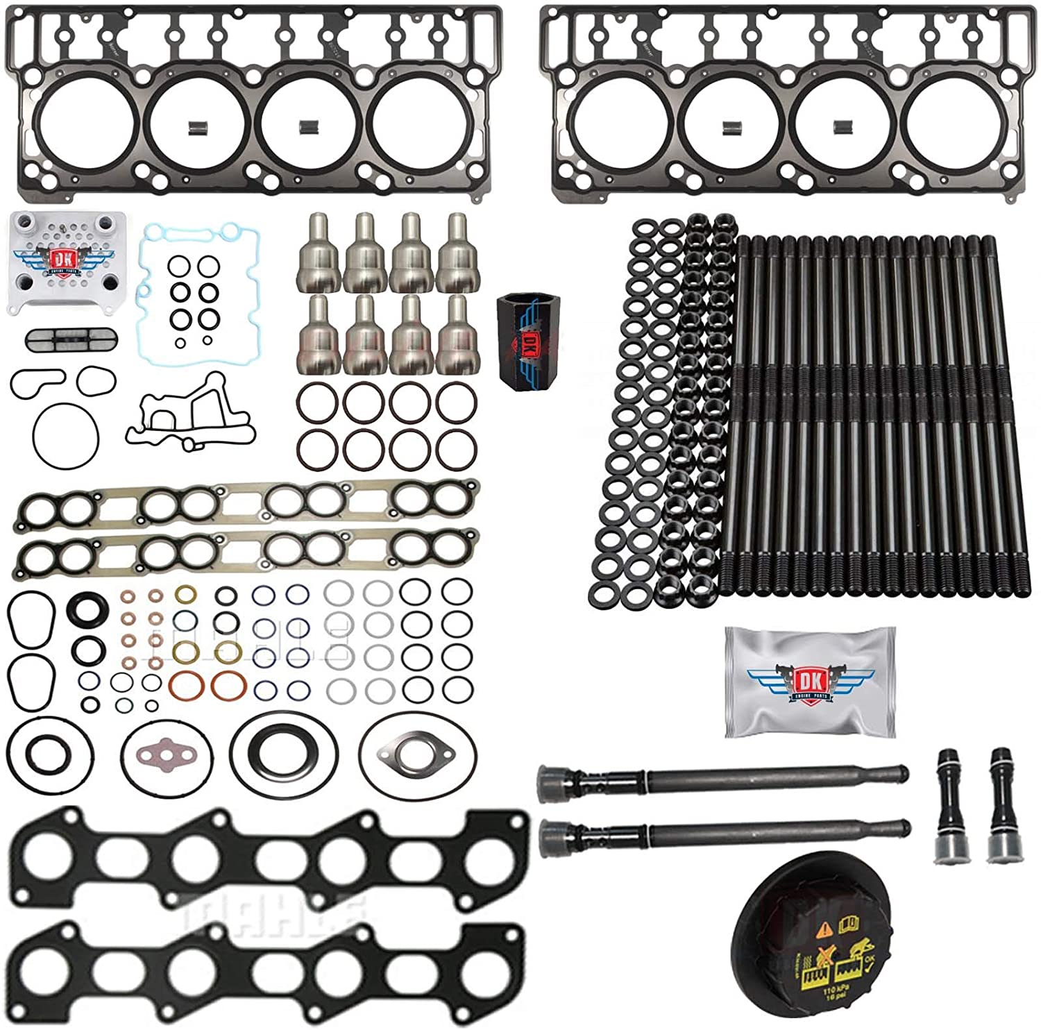 6.0L Revive Popular shop is the lowest price challenge Kit w Aftermarket Head Pipe Oil Gaskets Directly managed store Cooler Stand