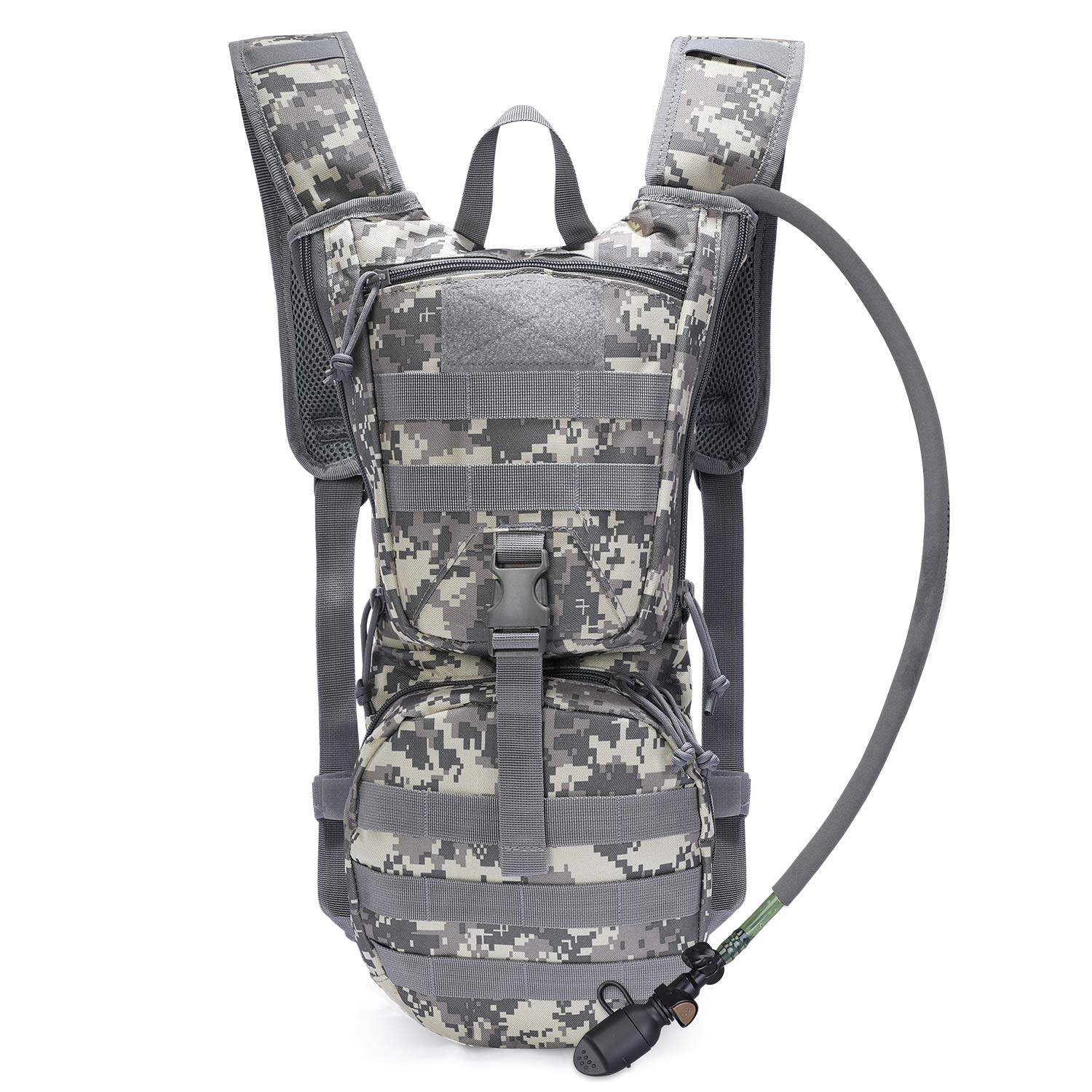 Running Walking and Climbing Biking G4Free Military Hydration Pack Backpacks with 3L Upgraded Bladder for Hiking