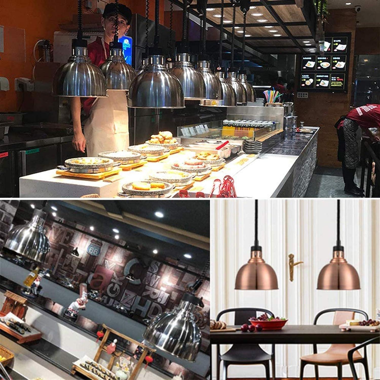 Allwin Lebensmittel-Heizlampe,Infrarotlampe Ausziehbar Infrarot-Gl/ÜHbirne 250W Einstellbare L/änge 75-165cm F/ÜR Restaurants//Buffets//Barbecue//Pizza Und 25 cm Schatten,Black