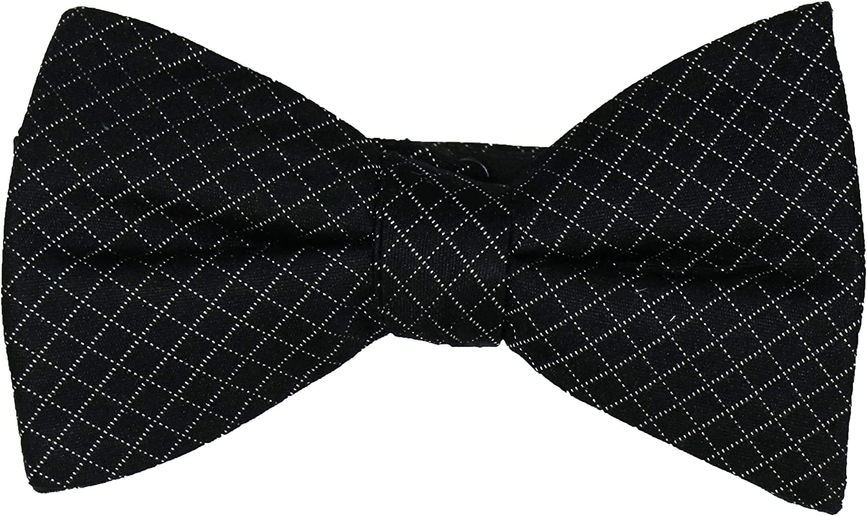 Ryan Seacrest Mens Lenox Silk Window Pane Bow Tie Black O/S