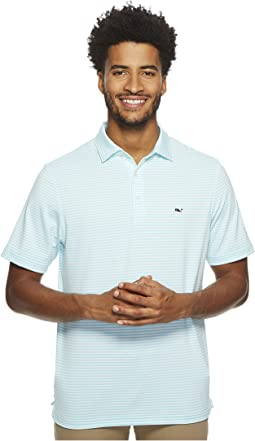Vineyard Vines Golf Winstead Stripe Sankaty Performance Polo