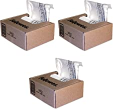 $90 » Fellowes Powershred Shredder Bags, 10 Gallon Capacity, Clear, 100 Bags and Ties/CTN (36052) Pack of 3