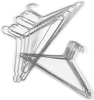 Cintres en acier galvanisé 2.2mm Lot de 20 pour la maison ou le nettoyage à sec