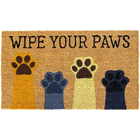 Avera Products | Wipe Your Paws, Natural Coir Fiber Doormat, Anti-Slip PVC or Latex Mat Back