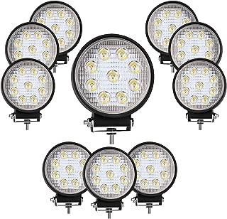 DOT Approvde 10PCS 4 Inch Led Work Light Bar 27w Driving Pods Spot Beam Work Lamp For Off-Road Suv Boat 4X4 Jeep JK 4Wd Truck 12V-24V