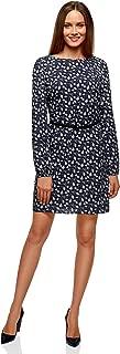 oodji Ultra Women's Belted Viscose Dress