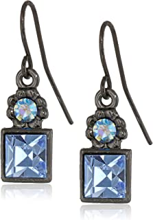 Colored Square Drop Earrings