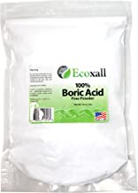 Ecoxall - Fine Powder Boric Acid Powder 99.9% Pure Anhydrous 1 lb. Bag