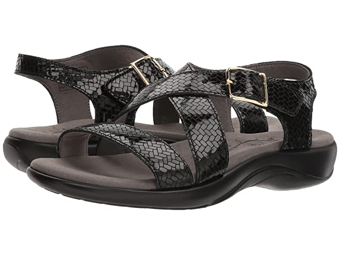 SAS Laguna (Weave Nero) Women's Sandals