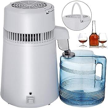 Iglobalbuy Destilador de Agua de Acero Inoxidable 750W Destilación de Agua Destilador de Agua de 1,1 Galones / 4 L para el Hogar Encimera con Botella de Conexión Recipiente de Vidrio: Amazon.es: Hogar