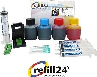 comprar comparacion Kit de Recarga para Cartuchos de Tinta HP 302, 302 XL Negro y Color, Incluye Clip y Accesorios + 200 ML Tinta