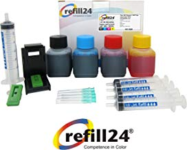 Kit de Recarga para Cartuchos de Tinta HP 302, 302 XL Negro y Color, Incluye Clip y Accesorios + 200 ML Tinta
