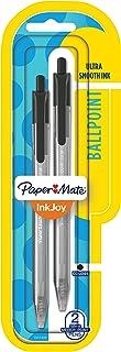 Paper Mate InkJoy 100RT Retractable Ballpoint Pens, Medium Point, Black, 2 Pack (1951400)