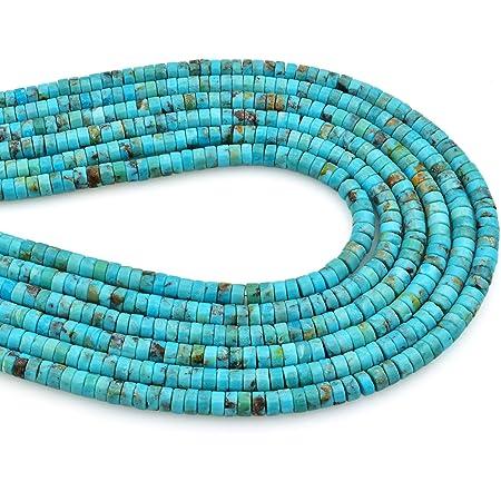 Authentic Aqua Turquoise Nugget Beads 4mm Blue Gemstone 16 Inch Strand