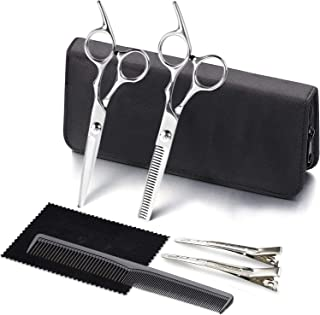 Hair Cutting Scissors Kit ,JIUHAN Professional Hair Shears Set, 4CR Stainless Steel Haircut Scissors with Fine Adjustment ...