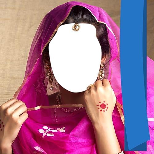 Indische Saree Foto Montage