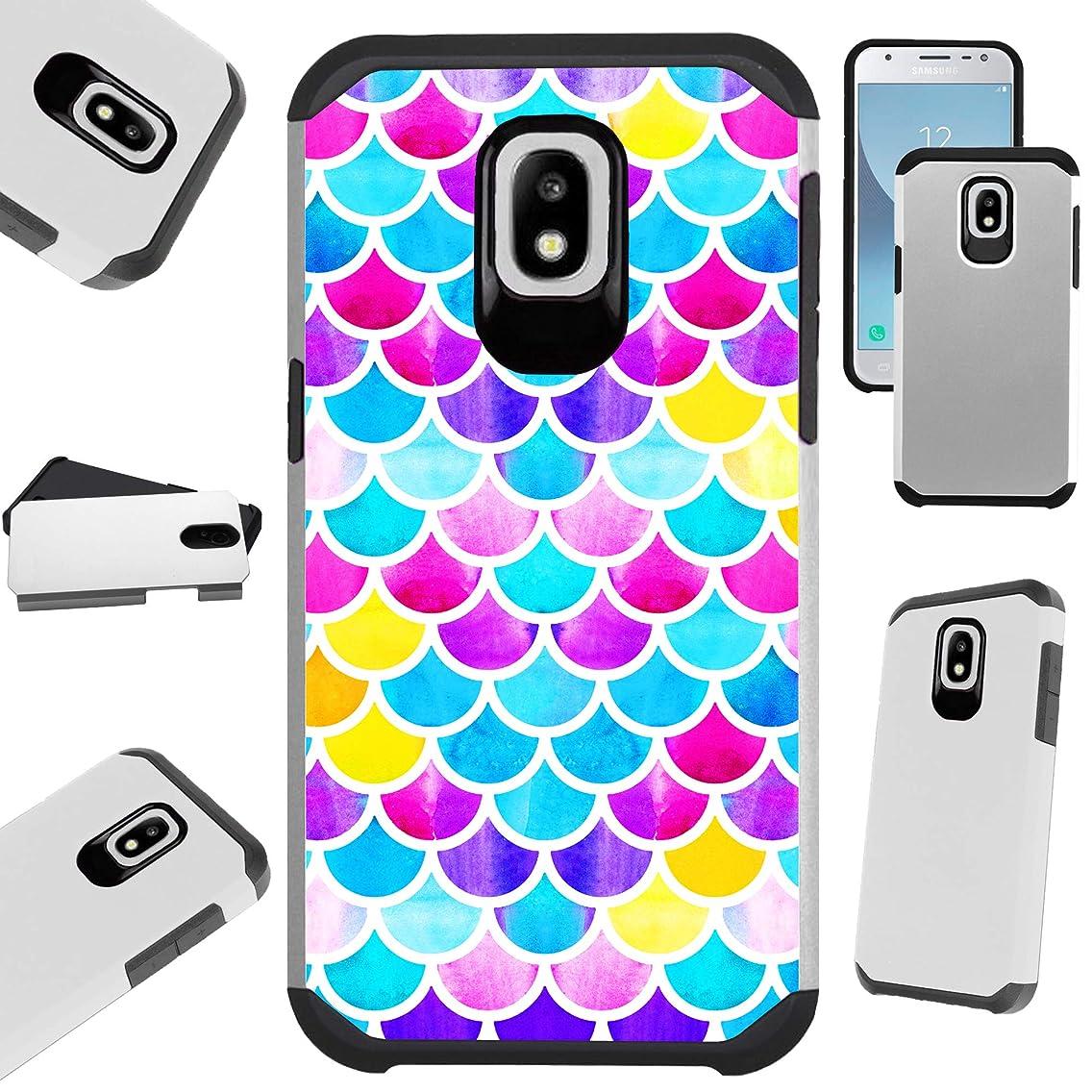 for Samsung Galaxy J7 V J737 (2018) | J7 Crown | J7 Aero | J7 Refine | J7 Aura | J7 Top | J7 Star | J7 Eon Case Hybrid TPU Fusion Phone Cover (Mermaid Colorful)