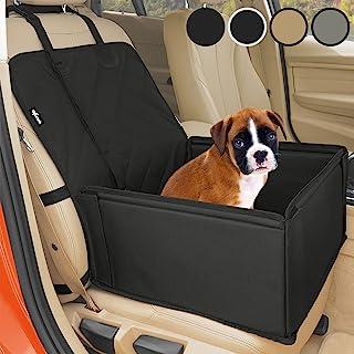 Extra Stabiler Hunde Autositz - Hochwertiger Auto Hundesitz für kleine bis mittlere Hunde - Verstärkte Wände und 3 Gurte - Wasserdichter Hundeautositz für Rück- und Vordersitz