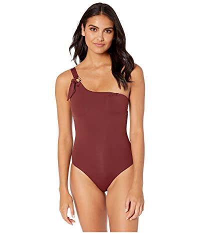 Seafolly Active One Shoulder Maillot One-Piece Swimsuit (Plum) Women