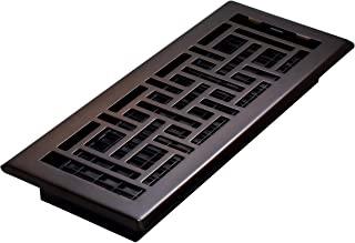 Decor Grates AJH412-RB Oriental Floor Register, 4x12 Inch, Rubbed Bronze