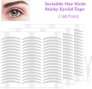 240 Pairs Natural Invisible Single Side Eyelid Tape Stickers- Instant Eye Lift Without Surgery - Perfect for Hooded, Droopy, Uneven, or Mono-eyelids (240 Pairs, Slim)