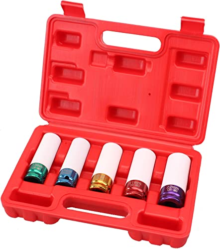 """new arrival Cartman Cr-Mo 5 outlet online sale Sockets 1/2"""" Drive online sale Impact Socket Set with Protective Sleeves online"""
