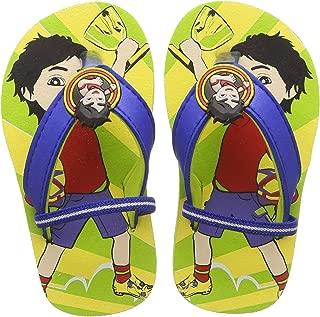 Shiva Boy's Green Flip-Flops-5 Kids (SHPBFF0763)