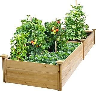 Greenes Fence Best Value Cedar Raised Garden Bed Planter, 24