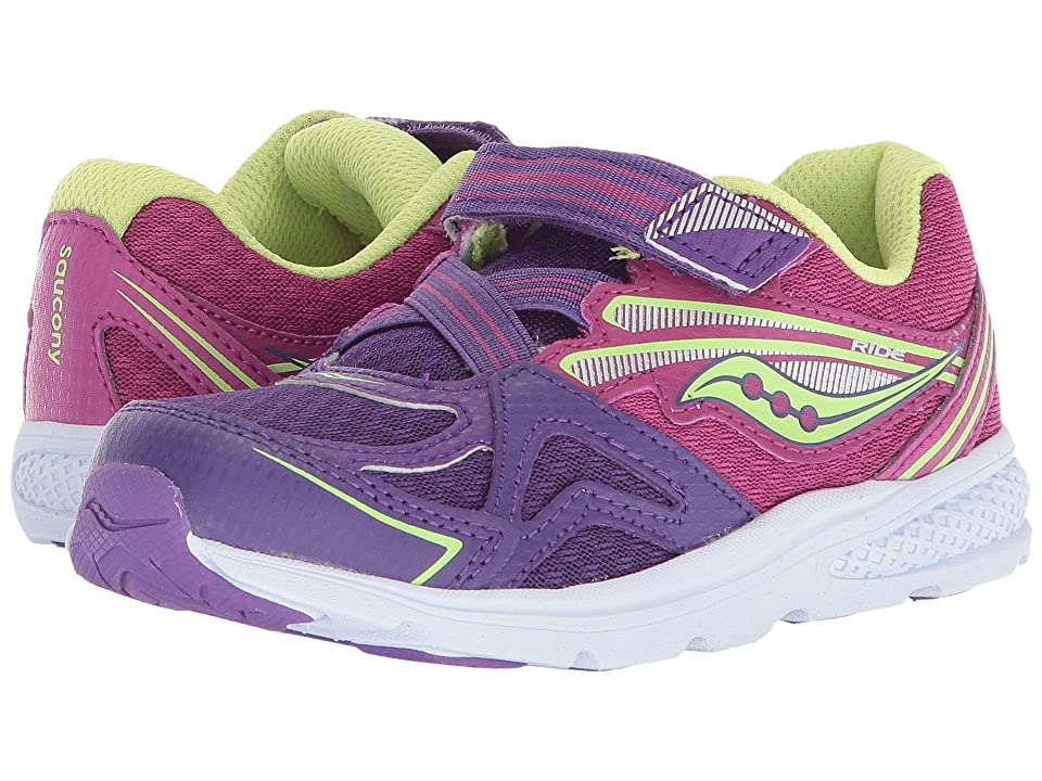 Saucony Kids Ride 9 (Toddler/Little Kid) (Purple) Girls Shoes