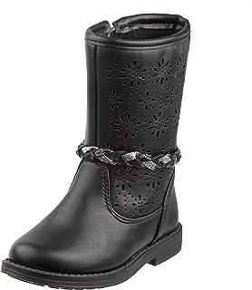 Laura Ashely Girls Woven Calf Length Riding Boot (Toddler, Little Kid)