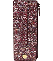 Lodis Accessories - Tweetable Tweed RFID Credit Card Case with Zipper Pocket