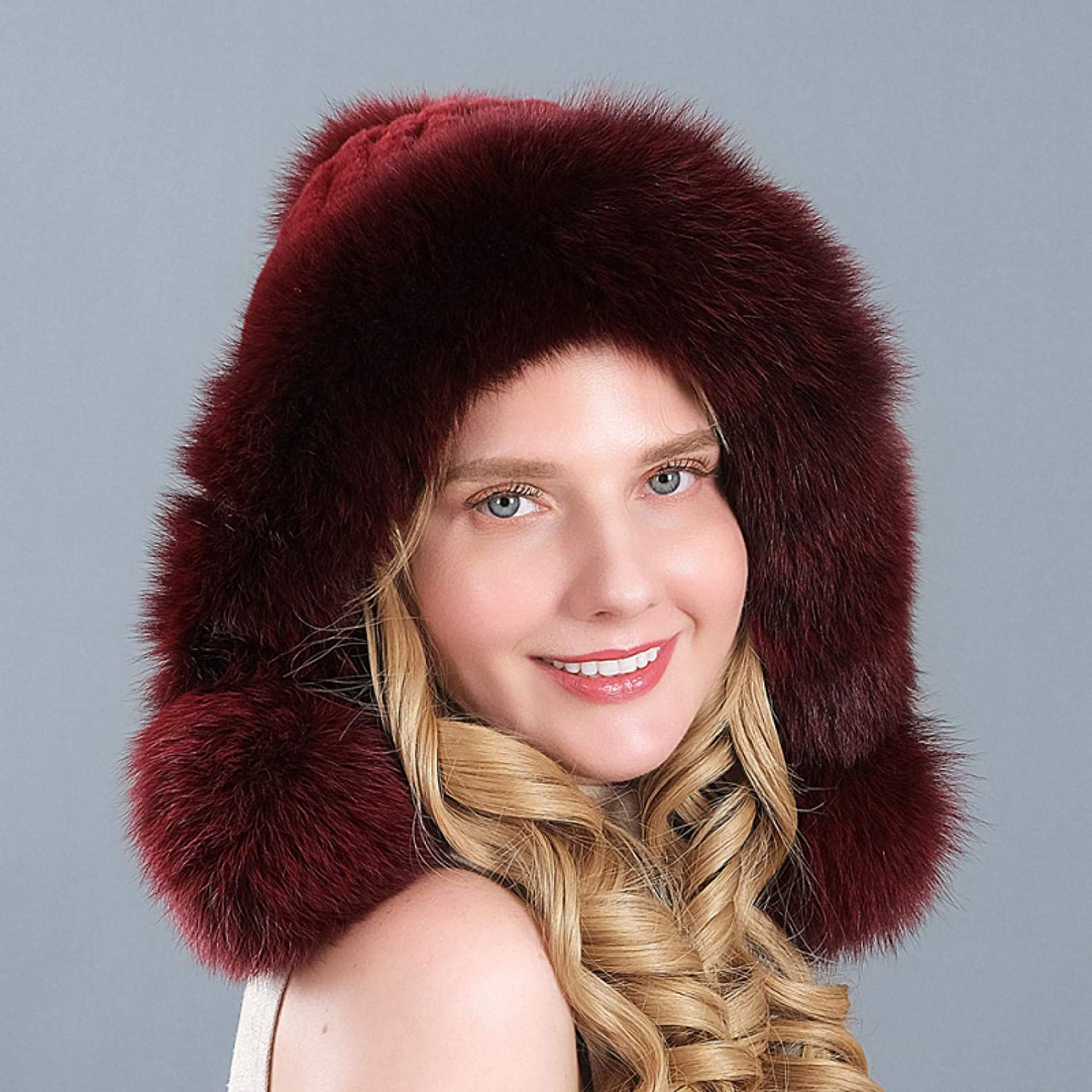 BELEMON Bomber National uniform free shipping Faux Rabbit Fur Hat Thick Warm outlet Women Russi Winter
