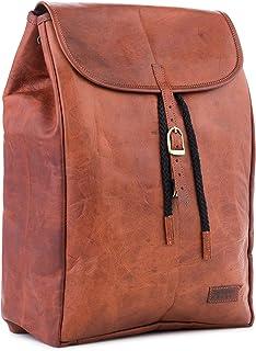 Berliner Bags Rucksack Malaga aus Leder für Damen Backpack Tagesrucksack mit Laptopfach 15,4 Zoll Wasserdicht Vintage Braun
