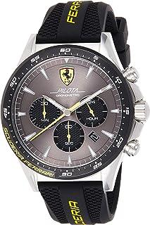 Ferrari Unisex-Adult Quartz Watch, Chronograph Display and Silicone Strap 830594