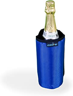 Insular Wine and Beverage Cooler Sleeve - Keep Wine,Champagne,Beers & Beverage Cold on The go Without Gel Pack| Portable Insulated wrap is Perfect for Parties,BBQ,Picnics&Outdoor Activities (Blue)
