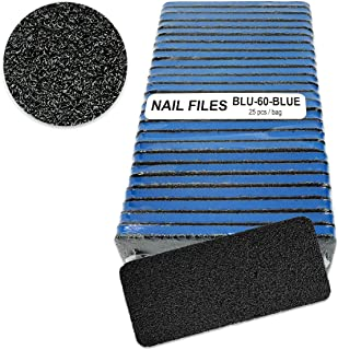 Professional Nail/pedicure Foot Files (Blue Center) Grit 60/60 (25pcs/pack)
