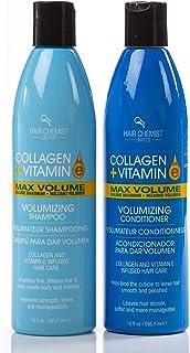 Hair Chemist Collagen & Vitamin E Max COMBO: Volume Shampoo 10 oz./285g + Conditioner 10 oz./285g