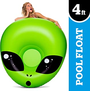 BigMouth Inc Giant Alien PooI FIoat, InfIatable Vinyl Summer Pool or Beach Toy, Patch Kit Included